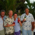 Oregonians we met in Roatan, Elaine is on the far right